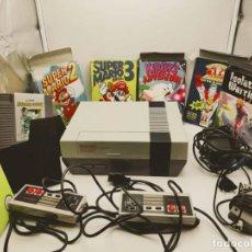 Videojuegos y Consolas: NES ANTIGUA DE NINTENDO CON 2 MANDOS Y 8 JUEGOS. Lote 194327637