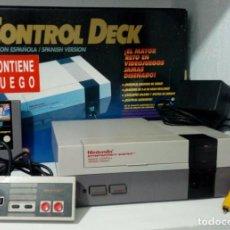 Videojuegos y Consolas: NINTENDO NES EN CAJA + JUEGO KUNG FU + MANDO + ADAPTADOR + CABLE AV + CABLE TV. Lote 194585508