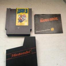 Videojuegos y Consolas: JUEGO NINTENDO NES SUPER MARIO BROS 3 CON MANUAL DE INSTRUCCIONES Y CARTUCHO. AÑO 85. Lote 194975760