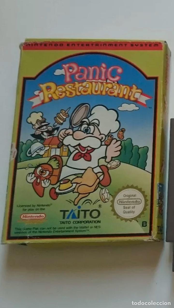 NINTENDO PANIC RESTAURANT NES PAL ESPAÑA! MUY BUSCADO! (Juguetes - Videojuegos y Consolas - Nintendo - Nes)