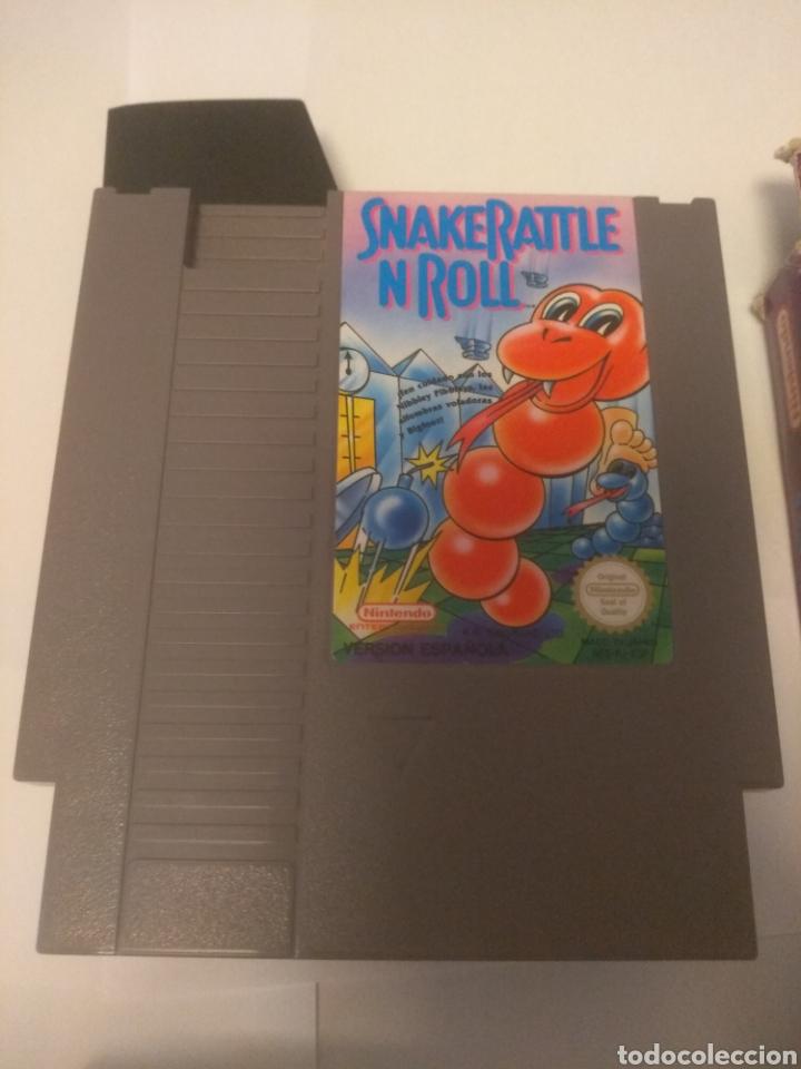 Videojuegos y Consolas: Juego Nintendo NES, Snake Rattle n Roll - Foto 3 - 197430206