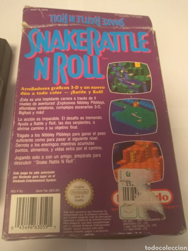 Videojuegos y Consolas: Juego Nintendo NES, Snake Rattle n Roll - Foto 6 - 197430206