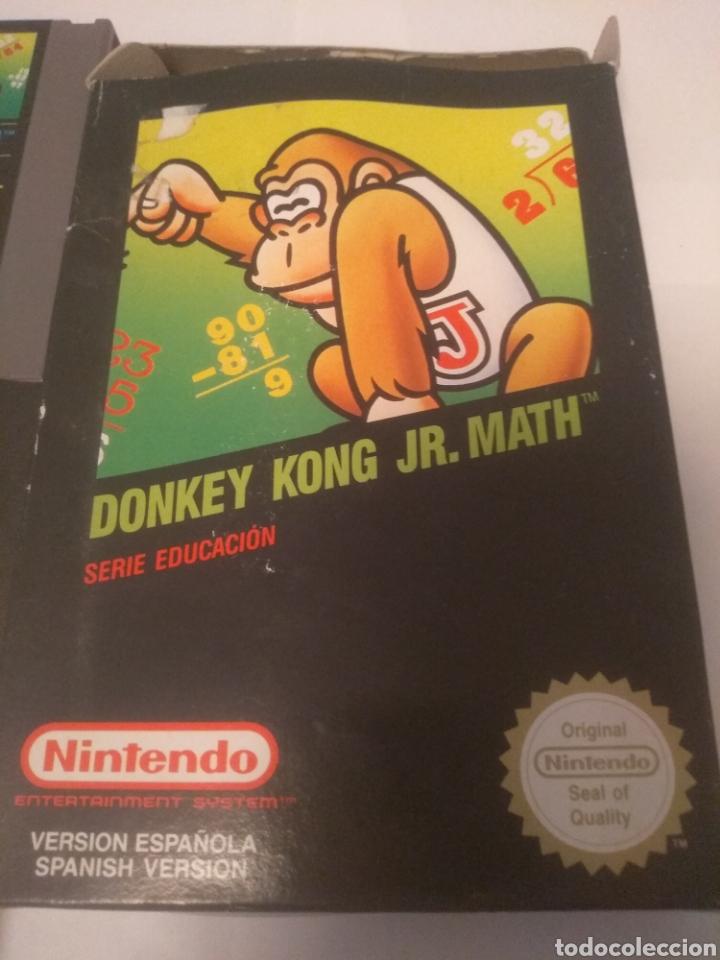 Videojuegos y Consolas: Juego Nintendo NES, Donkey Kong JR.Math, serie educación - Foto 2 - 197432548