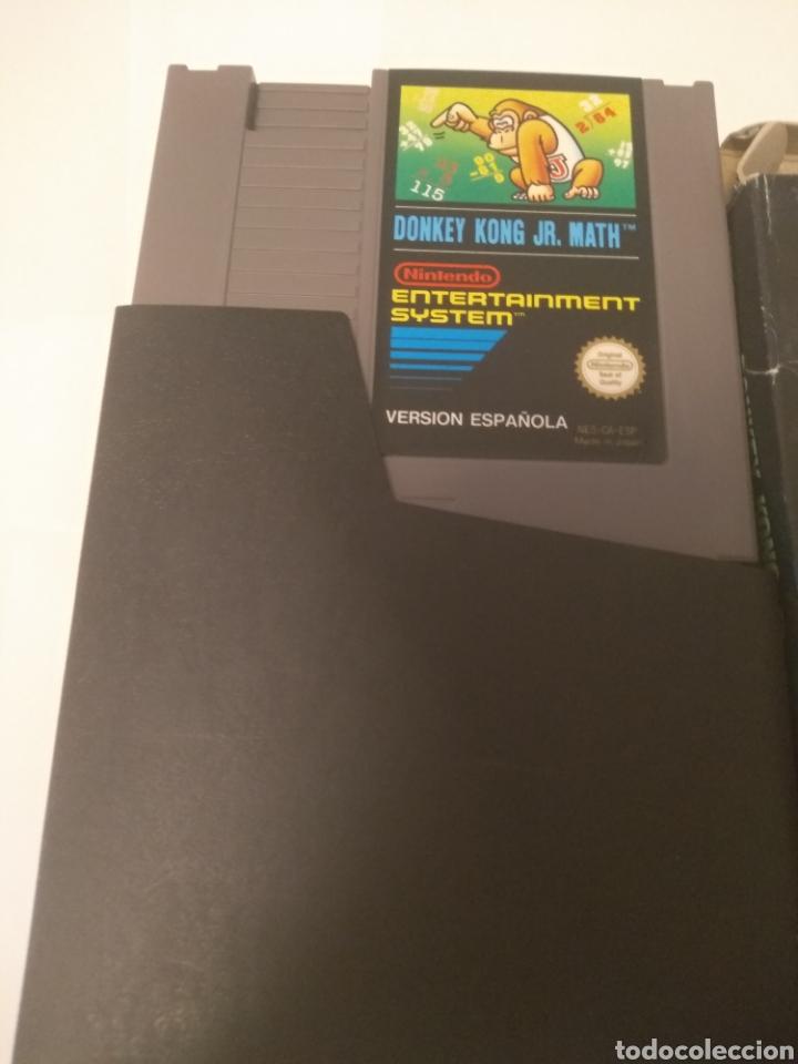 Videojuegos y Consolas: Juego Nintendo NES, Donkey Kong JR.Math, serie educación - Foto 3 - 197432548