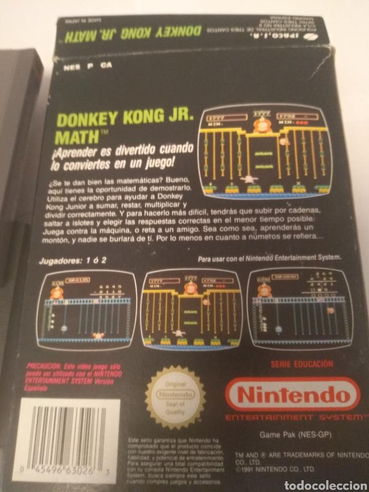 Videojuegos y Consolas: Juego Nintendo NES, Donkey Kong JR.Math, serie educación - Foto 6 - 197432548