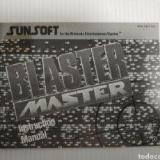 Videogiochi e Consoli: MANUAL BLASTER MASTER NINTENDO NES. Lote 198815508