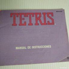 Videojogos e Consolas: MANUAL TETRIS NINTENDO NES. Lote 198821461