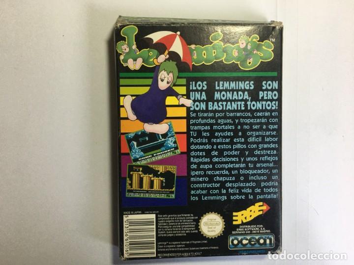 Videojuegos y Consolas: JUEGO NINTENDO NES LEMMINGS - Foto 2 - 204706943