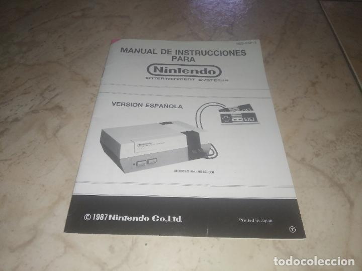 MANUAL DE INSTRUCCIONES DE NINTENDO NES VERSIÓN ESPAÑOLA DE (Juguetes - Videojuegos y Consolas - Nintendo - Nes)