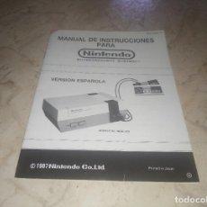 Videojuegos y Consolas: MANUAL DE INSTRUCCIONES DE NINTENDO NES VERSIÓN ESPAÑOLA DE. Lote 205263756