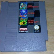 Videojuegos y Consolas: CARTUCHO NES SUPER MARIO BROS TETRIS NINTENDO WORLD CUP ESP. Lote 206784208