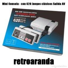Videojuegos y Consolas: MINI CONSOLA - CON 620 JUEGOS CLÁSICOS SALIDA AV - CONSOLA TIPO MINI NES.. Lote 207192728