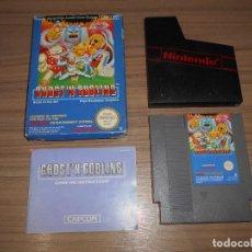 Videojuegos y Consolas: GHOST'N GOBLINS JUEGO NINTENDO NES PAL ESPAÑA. Lote 210296212