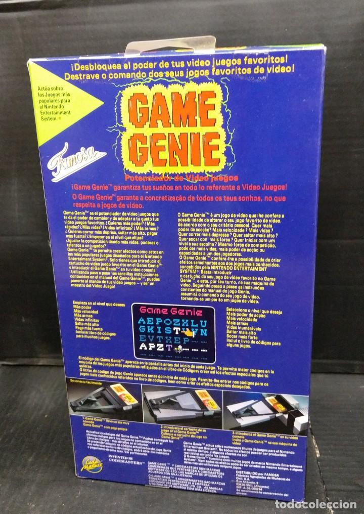 Videojuegos y Consolas: Game genie de famosa para Nes-nuevo sin Abrir-version española portuguesa - Foto 2 - 210772829