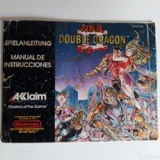 Videojuegos y Consolas: MANUAL DOUBLE DRAGON II 2 NINTENDO NES. Lote 210978055