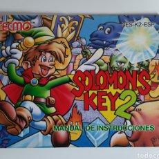Videojuegos y Consolas: MANUAL SOLOMON'S KEY 2 NINTENDO NES. Lote 210978109