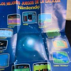 Videojuegos y Consolas: PÓSTER CATÁLOGO DE VIDEOJUEGOS NINTENDO NES DE 1988 LOS MEJORES JUEGOS DE LA GALAXIA. Lote 213775820