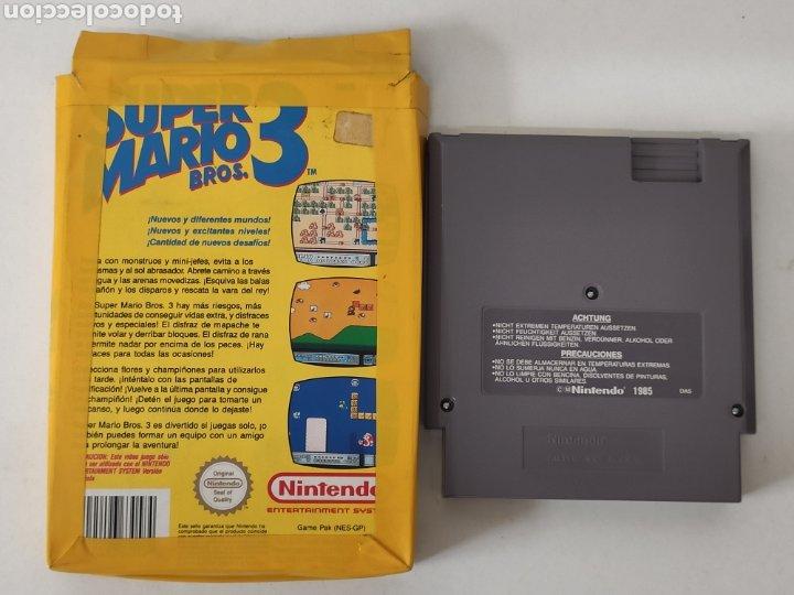 Videojuegos y Consolas: Juego Nintendo NES super Mario 3 Bros - Foto 3 - 213800467