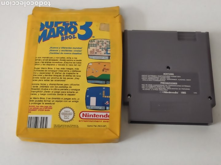 Videojuegos y Consolas: Juego Nintendo NES super Mario 3 Bros - Foto 4 - 213800467