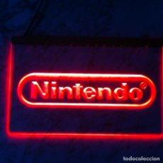 Videojuegos y Consolas: CARTEL LUMINOSO NINTENDO POSTER CUADRO LAMPARA LOGO DECO VINTAGE SUPER NES SNES CONSOLA. Lote 218966943