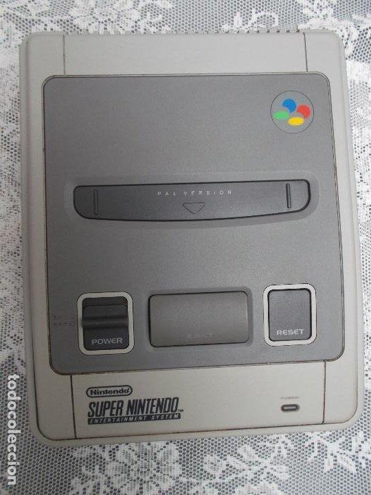 SUPER NINTENDO SUPER NES (PAL).ENTERTAINMENT SYSTEM.1ER MODELO,1992, EXCELENTE ESTADO,FUNCIONANDO (Juguetes - Videojuegos y Consolas - Nintendo - Nes)