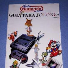 Videojuegos y Consolas: GUIA DE JUEGOS NINTENDO Nº 1 GUIA PARA JUGONES ORIGINAL AÑOS 90 EN MUY BUEN ESTADO. Lote 222464956