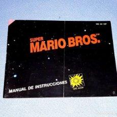 Videojuegos y Consolas: MANUAL DE INSTRUCCIONES DE SUPER MARIO BROS. NINTENDO NES ORIGINAL AÑO 1987 EN MUY BUEN ESTADO. Lote 222466275