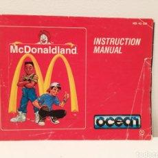 Videojuegos y Consolas: MANUAL MCDONALDLAND NINTENDO NES. Lote 222525452