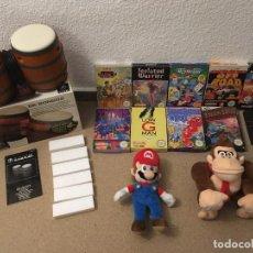 Videojuegos y Consolas: 9 CAJAS VACIAS JUEGOS NES + PELUCHES MARIO & DONKEY + DK BONGO PAL EUR PARA GAME CUBE. Lote 222689727