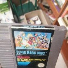 Videojuegos y Consolas: EXPRO JUEGO NES PAL ESP SUPER MARIO BROS ETIQUETA GASTADILLA. Lote 222916603