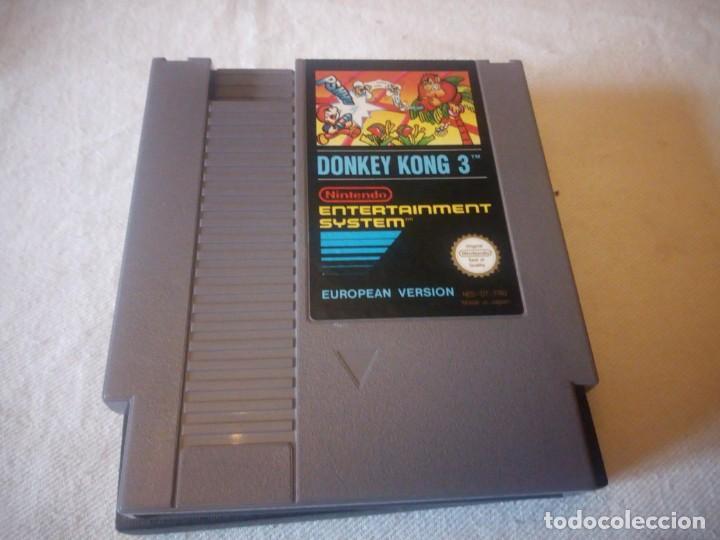 Videojuegos y Consolas: juego nintendo nes DONKEY KONG 3 VERSION EUROPEA 1985 ORIGINAL PAL B - Foto 2 - 223665716
