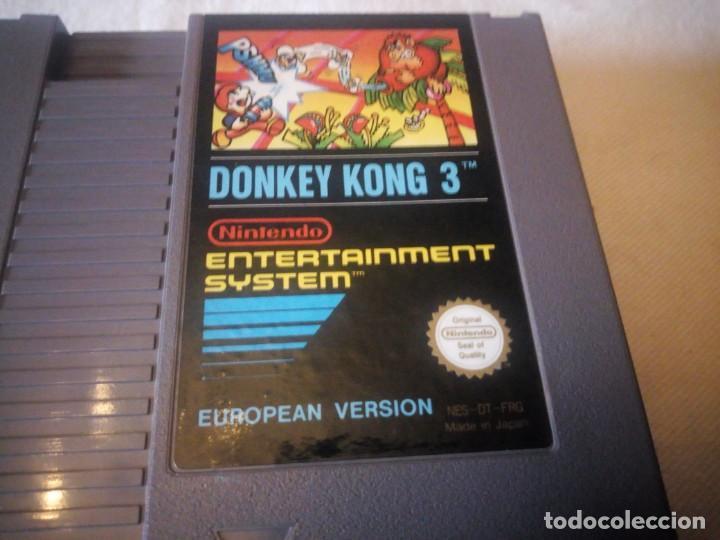 Videojuegos y Consolas: juego nintendo nes DONKEY KONG 3 VERSION EUROPEA 1985 ORIGINAL PAL B - Foto 3 - 223665716