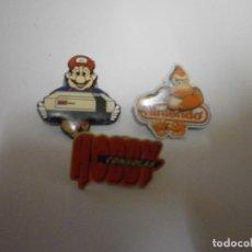 Videojuegos y Consolas: LOTE DE PINS ORIGINALES NINTENDO NES. Lote 224029930