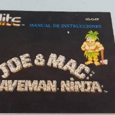 Jeux Vidéo et Consoles: ANTIGUO MANUAL DE CONSOLA NINTENDO NES ORIGINAL AL 100% JOE MAC. Lote 225123365