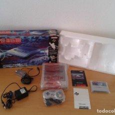 Videojuegos y Consolas: NINTENDO SNES COMPLETA CON CAJA VERSION ESPAÑOLA TODO ORIGINAL NEAR MINT PAL!!! R11791. Lote 226483660