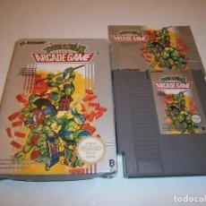 Jeux Vidéo et Consoles: TURTLES 2 THE ARCADE GAME NINTENDO NES PAL COMPLETO. Lote 227643294