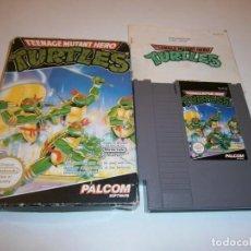 Jeux Vidéo et Consoles: TURTLES TEENAGE MUTANT HERO NINTENDO NES PAL COMPLETO. Lote 227931885