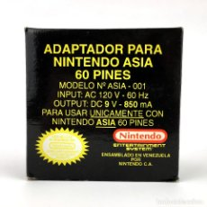 Videojuegos y Consolas: NINTENDO ADAPTADOR ASIA MODELO 001 NUEVO EN CAJA / 60 PINES / 120V 60HZ - 9V 850MA FAMICLON FAMICOM. Lote 228374290
