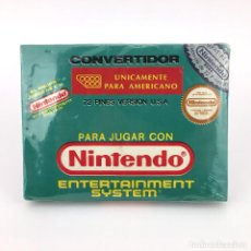 Videojuegos y Consolas: NINTENDO CONVERTIDOR 72 PINES VERSION USA NUEVO EN CAJA NES BC CASSETTE 76% RAREZA FAMICLON FAMICOM. Lote 228374292