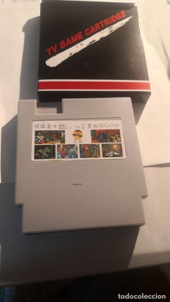 Videojuegos y Consolas: 2 cartuchos clonico clon Nintendo nes 21 en 1 nuevo sin uso en caja - Foto 2 - 230478280