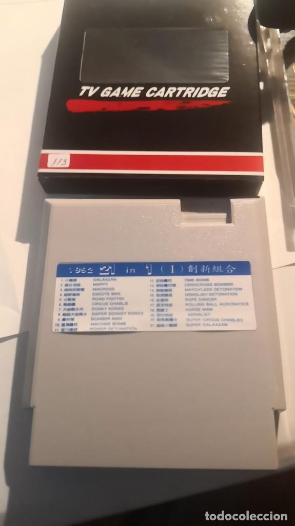 Videojuegos y Consolas: 2 cartuchos clonico clon Nintendo nes 21 en 1 nuevo sin uso en caja - Foto 2 - 230478300