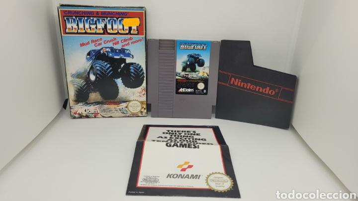 JUEGO NINTENDO BIGFOOT. NES BIG FOOT. FOLLETO KONAMI. (Juguetes - Videojuegos y Consolas - Nintendo - Nes)