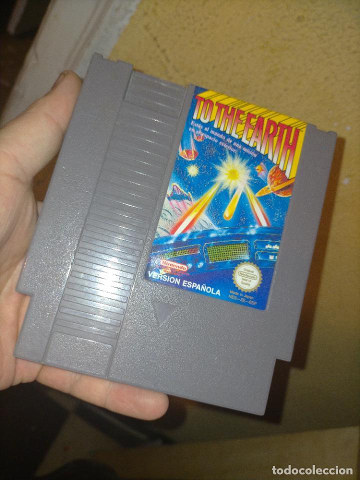 TO THE EARTH JUEGO DE NINTENDO NES PAL CARTUCHO PARA ZAPPER VERSIÓN ESPAÑOLA (Juguetes - Videojuegos y Consolas - Nintendo - Nes)