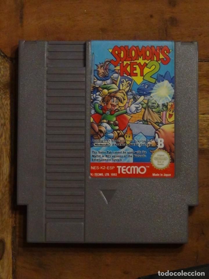 Videojuegos y Consolas: Juego Nintendo Nes SALOMON S KEY 2 NINTENDO NES PAL - Foto 2 - 244436105