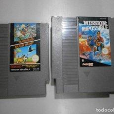 Videojuegos y Consolas: LOTE DE 2 JUEGOS NINTENDO NES. Lote 245235720