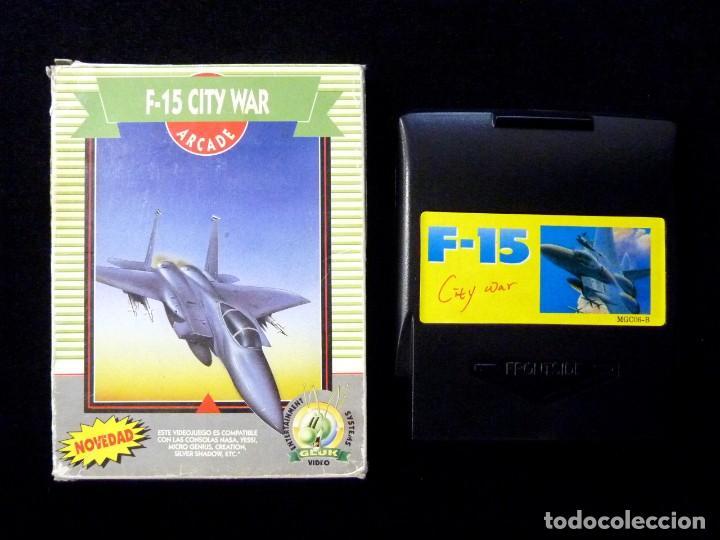 F-15 CITY WAR. GLUK. JUEGO CON CAJA PARA NINTENDO NES, NASA, YESS, MICRO GENIUS, CREATION, SILVER SH (Juguetes - Videojuegos y Consolas - Nintendo - Nes)