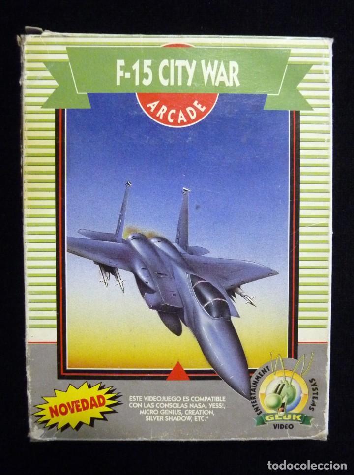 Videojuegos y Consolas: F-15 CITY WAR. GLUK. JUEGO CON CAJA PARA NINTENDO NES, NASA, YESS, MICRO GENIUS, CREATION, SILVER SH - Foto 3 - 246094070
