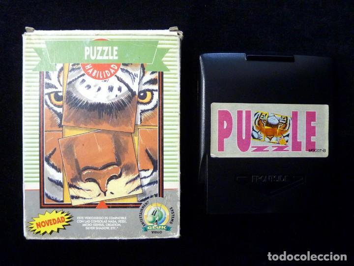 PUZZLE. GLUK. JUEGO CON CAJA PARA NINTENDO NES, NASA, YESS, MICRO GENIUS, CREATION, SILVER SHADOW... (Juguetes - Videojuegos y Consolas - Nintendo - Nes)