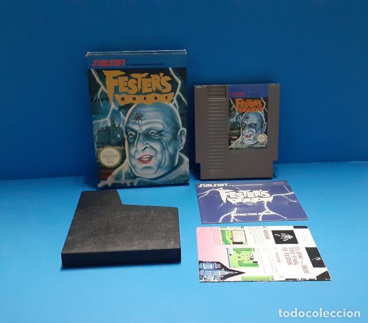 JUEGO PARA NINTENDO NES. FESTERS QUEST , FESTER'S QUEST. COMPLETO. (Juguetes - Videojuegos y Consolas - Nintendo - Nes)