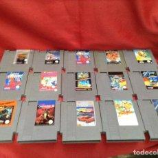 Videojuegos y Consolas: LOTE DE JUEGOS , NINTENDO NES . 15 UNIDADES. Lote 248081980
